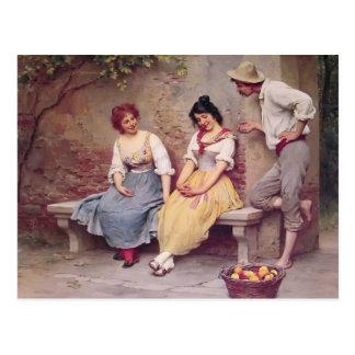 Namorico de Eugene de Blaas- Cartão Postal