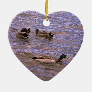 Namoricos emplumados ornamento de cerâmica coração