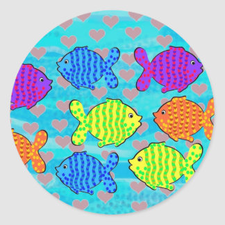 Namorou peixes adesivo