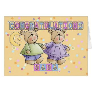 Nana ao bebê novo junta parabéns cartão comemorativo