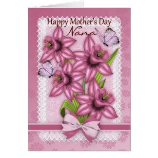 Nana, cartão do dia das mães com Daffodils
