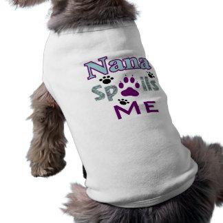 Nana estraga-me T do cão Camisa Sem Mangas Para Cachorro
