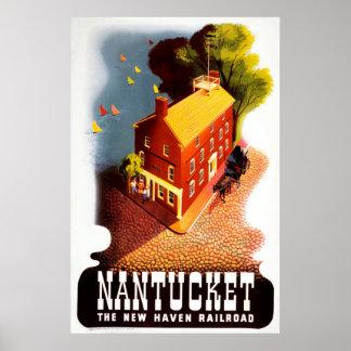 Nantucket o poster vintage da estrada de ferro de