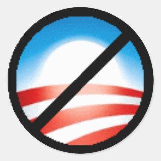 Não a Obama Adesivos Em Formato Redondos