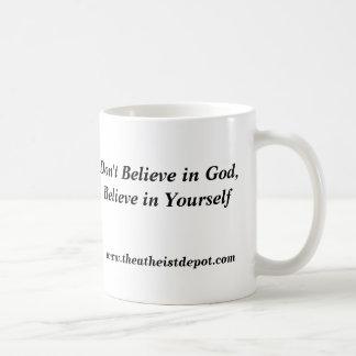 Não acredite na caneca do deus