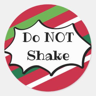 Não agite a etiqueta do feriado