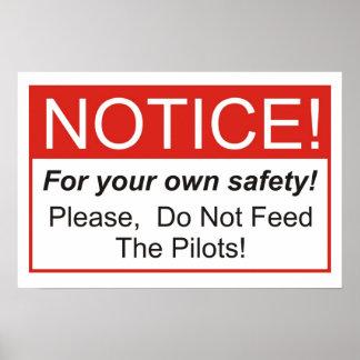Não alimente os pilotos! poster