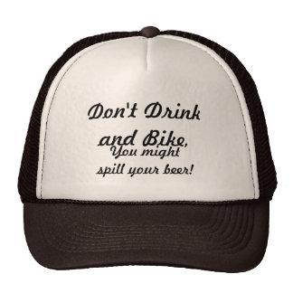 Não beba e não bike boné