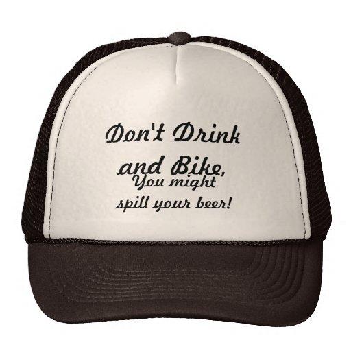 Não beba e não bike bonés