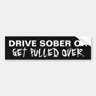Não beba e não conduza adesivo para carro