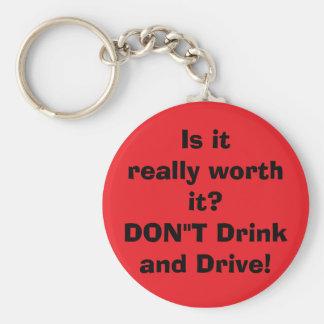 não beba e não conduza chaveiro