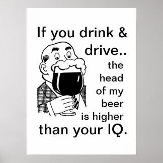 Não beba e não conduza pôster