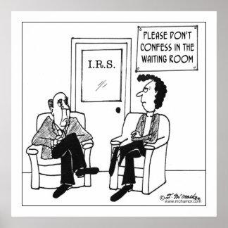Não confesse na sala de espera pôster