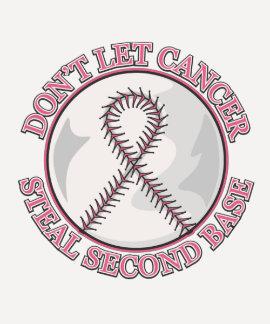 Não deixe o cancro da mama roubar a segunda base camisetas