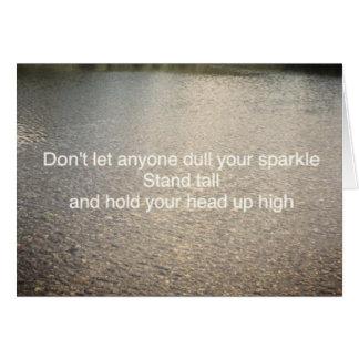 Não deixe qualquer um tornam mais fraco seu cartão