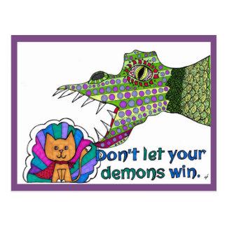 Não deixe sua vitória dos demónios! Cartão