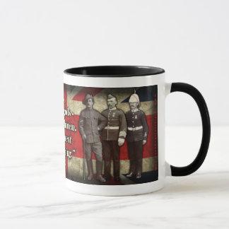 """""""Não deuses, ingleses…"""" Caneca de café"""