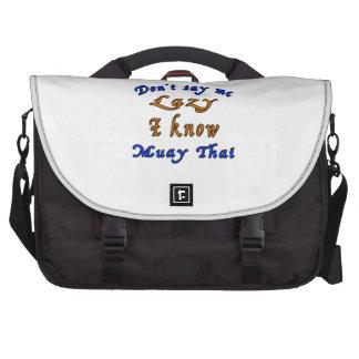 Não diga que eu preguiçoso mim sabe tailandês de maleta para notebook