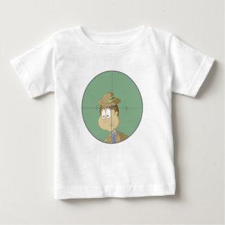 Não dispare no mensageiro camiseta para bebê