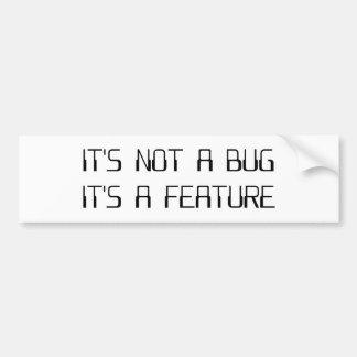 Não é um inseto que da codificação é uma adesivo para carro