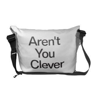 Não é você inteligente bolsas mensageiro