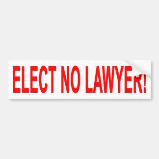Não eleja nenhum advogado adesivo para carro