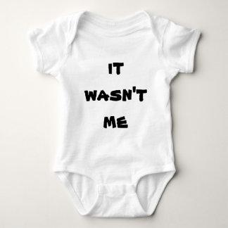 Não era mim bodysuit unisex body para bebê