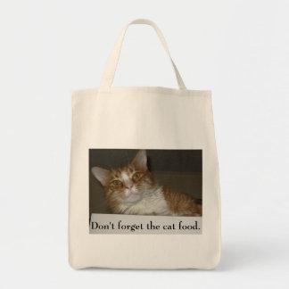 Não esqueça a comida de gato bolsas