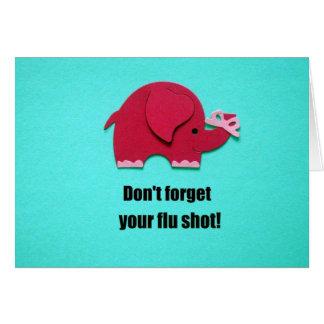 Não esqueça sua vacina contra a gripe! cartão comemorativo