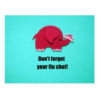 Não esqueça sua vacina contra a gripe cartoes postais