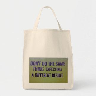 Não faça a mesma coisa sacola tote de mercado