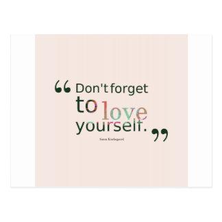 Não faz - esquecer-à-amor-você mesmo. - cartão postal