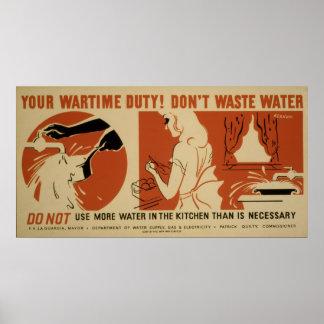 Não faz o poster de WPA do vintage da cozinha das Pôster