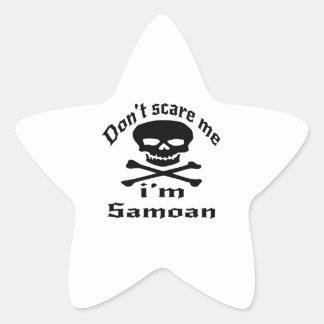 Não faz o susto mim que eu sou samoano adesivo estrela