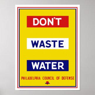 Não fazem as águas residuais -- WPA Poster