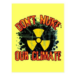 Não fazem as armas nucleares nosso clima cartão postal