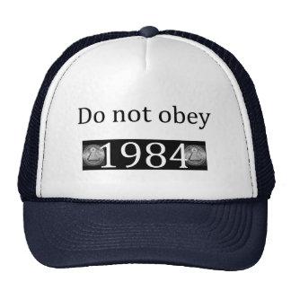 Não fazem obey/1984 bonés