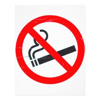 Não fumadores modelo de panfleto