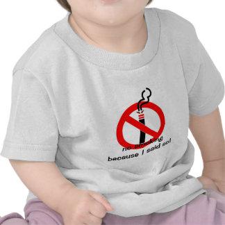 não fumadores, não fumadores porque eu disse assim camisetas