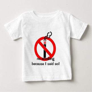 não fumadores, não fumadores porque eu disse tshirt