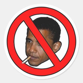 Não fumadores, Obama. Adesivos Redondos