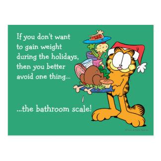 Não ganhe o peso durante os feriados cartão postal