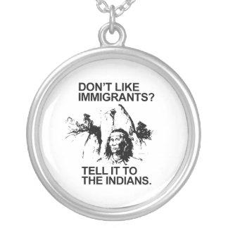 Não goste de imigrantes, dizem-no aos indianos bijuterias personalizadas