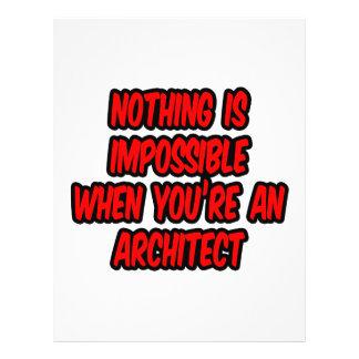 Não há impossíveis… arquiteto panfleto coloridos