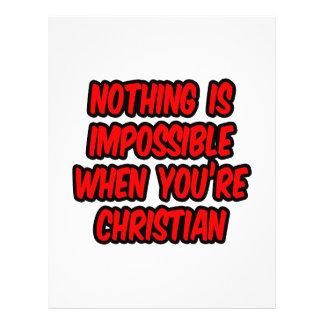 Não há impossíveis… cristão panfletos coloridos