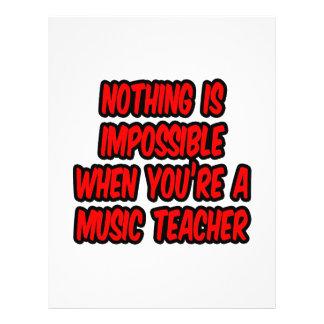 Não há impossíveis… professor de música panfletos personalizados