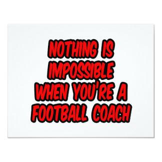 Não há impossíveis… treinador de futebol convite 10.79 x 13.97cm