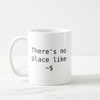 Não há nenhum lugar como a casa caneca de café