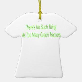 Não há nenhuma coisa como tratores verdes demais enfeite