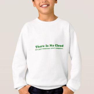 Não há nenhuma nuvem seu justo alguém computador agasalho